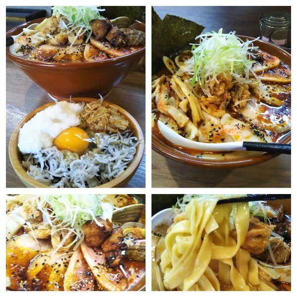 「【限定】海老担々麺セット」@麺家 Shumen Doushiの写真