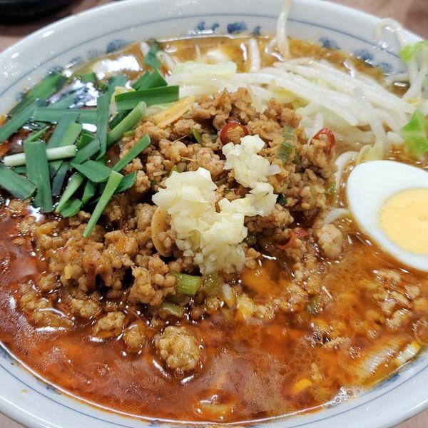 「【10食限定】台湾ラーメン(麺200gカタメ)+ネギ」@所沢大勝軒の写真