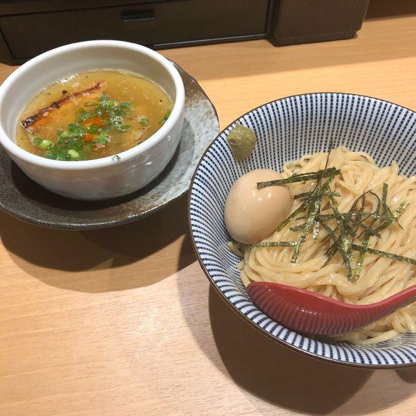 「味玉塩つけ麺」@塩つけ麺 灯花の写真