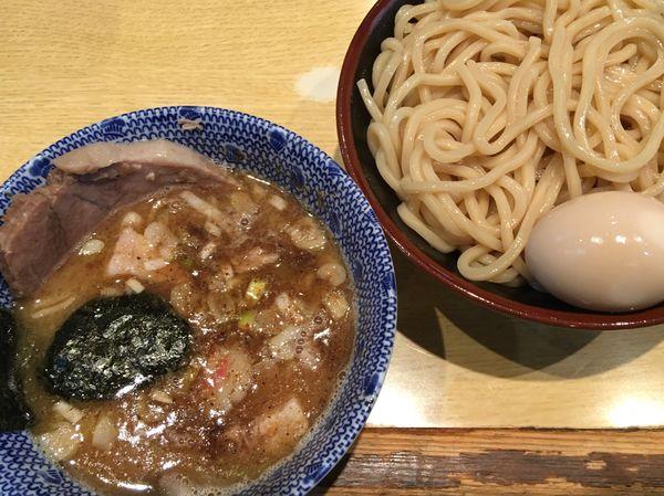 「味玉つけ麺 半チャーシュー」@くり山の写真