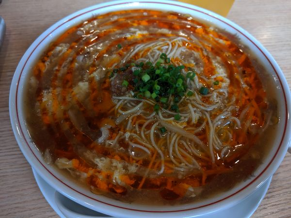 「酸辣湯麺¥780」@麺酒場 朱拉の写真