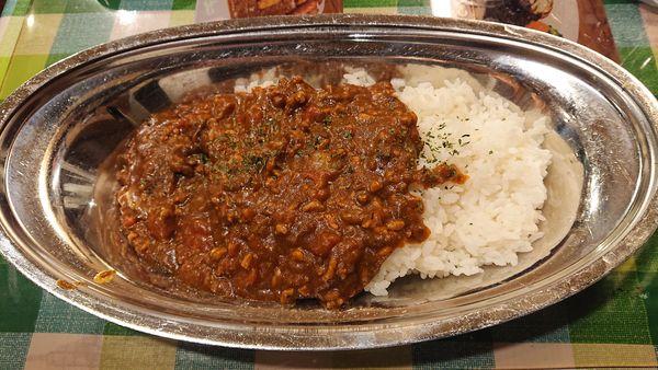 「トマトひき肉カレー 700円」@カレーダイニング ボンゾの写真
