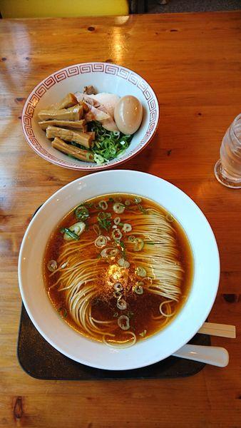 「かけそば+トッピング(別盛り)」@麺や食堂の写真