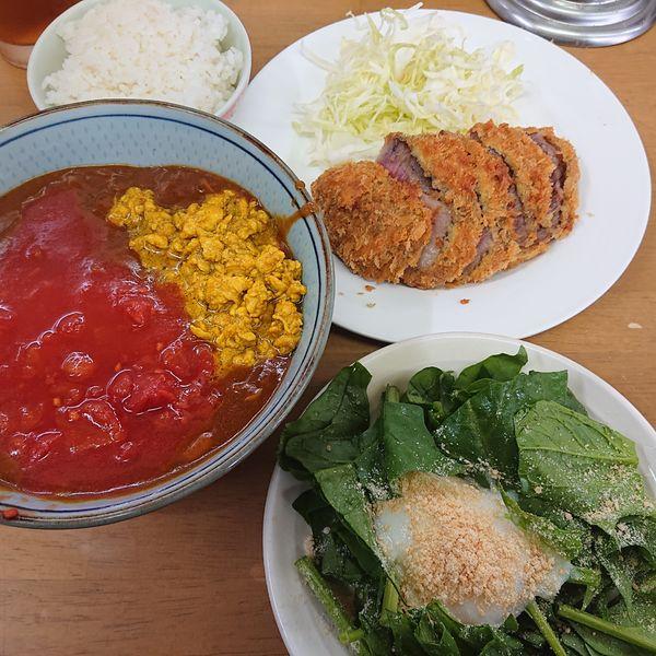 「キーマ風鶏カレーSrankアップ3500円、オニスラ200円」@MENYA 食い味の道有楽の写真
