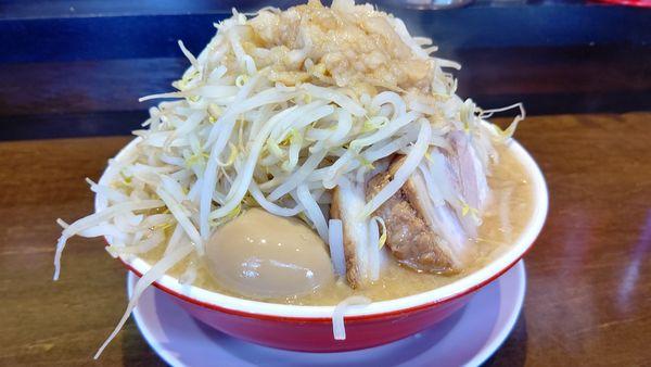 「ラーメン中300g野菜&脂マシ880円」@らーめん男盛の写真