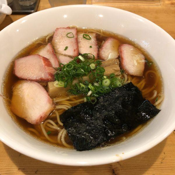 「黒チャーシュー麺」@支那そば 大和 稲荷町本店の写真