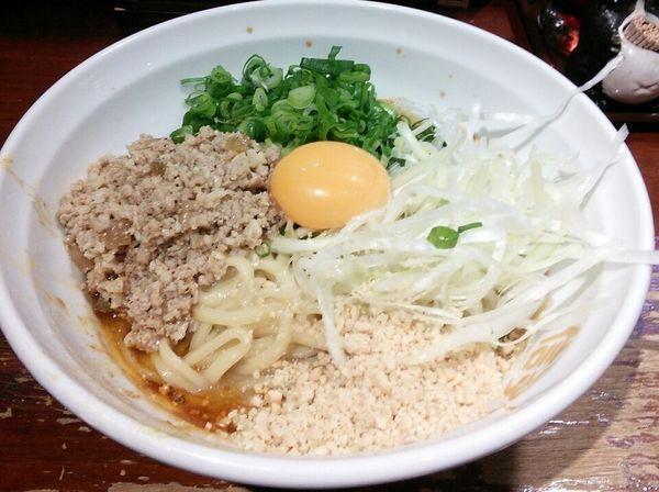 「汁なし担々麺 850円」@信楽茶屋 横浜鶴見本店の写真