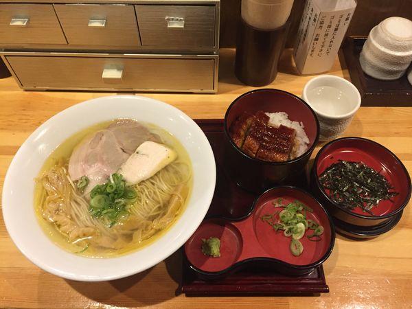 「【平日限定】ランチ 塩そば+ひつまぶし」@自家製麺 竜葵の写真