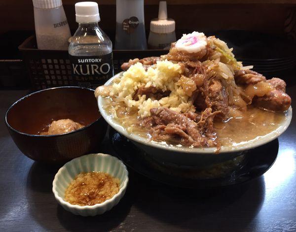 「豚増しラーメン+とろり味玉+生姜ダレ」@自家製麺 No11の写真