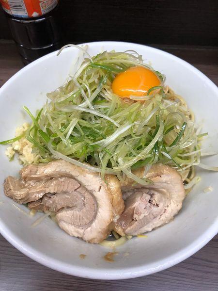 「汁なし ネギ」@ラーメン二郎 横浜関内店の写真