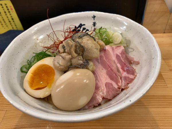 「牡蠣白味噌まぜSOBA」@中華そば 葵の写真