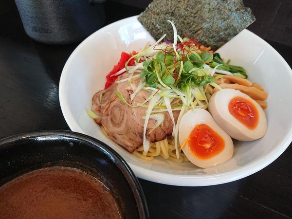 「【限定】カレーつけ麺(追い飯付き)850円+味玉 他いろいろ」@麺や 笑 ~Sho~の写真