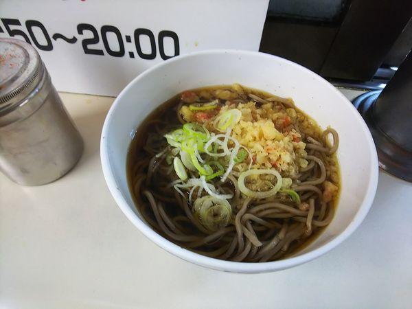 「たぬきそば」@そば処 弁菜亭 5・6番ホーム店の写真