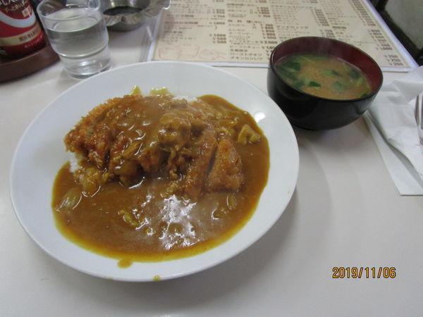 「カツカレーライス 850円」@キッチンラッキーの写真