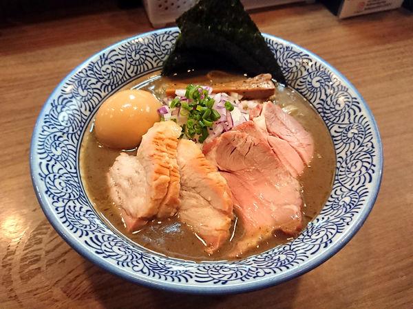 「特製極上濃厚煮干しそば」@煮干しつけ麺 宮元の写真