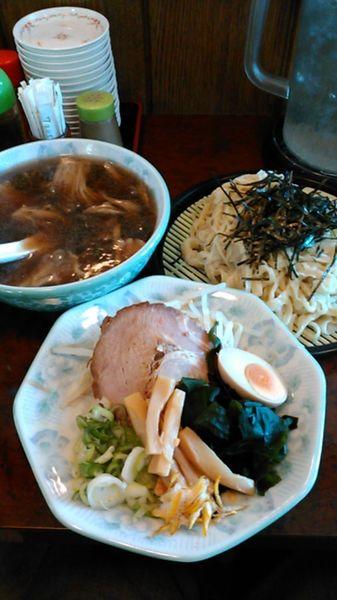 「きのこ汁つけ麺(具付) ラーパス 大盛」@青竹手打ちラーメン 桐生宿の写真