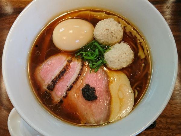 「ポルチーニ醤油らぁ麺¥800+特製トッピング¥250」@IRUCA-Tokyo-の写真