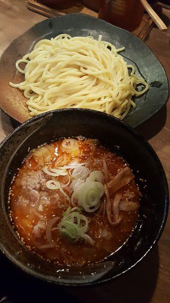 「辛味味噌つけ麺中盛」@つけ麺屋 ごんろく 両国店の写真