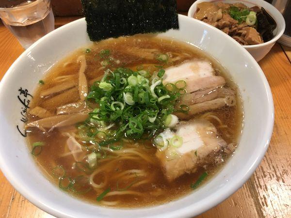 「醤油らーめん+ミニ焼豚丼」@ShiNaChiKu亭の写真