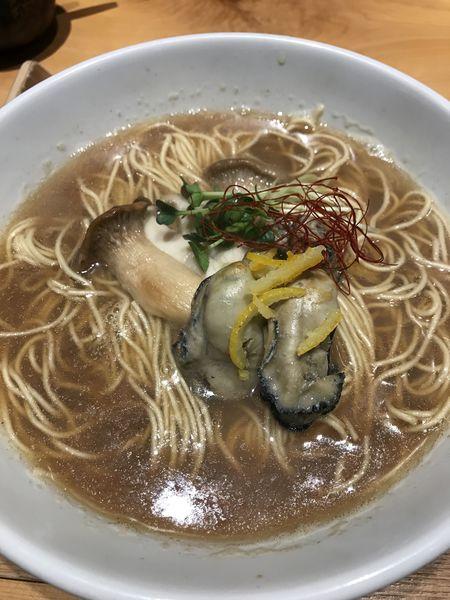 「牡蠣蕎麦 1,150円」@銀座 風見の写真