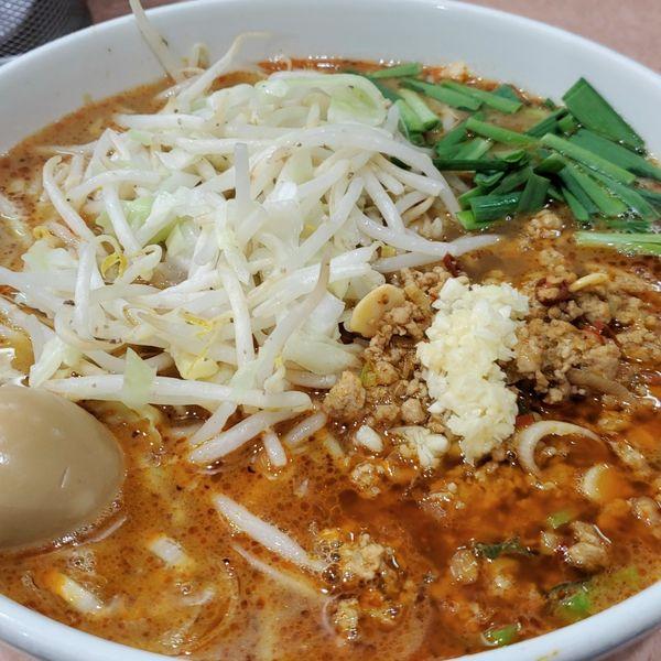 「【期間限定】台湾ラーメン小麺カタメ野菜」@所沢大勝軒の写真