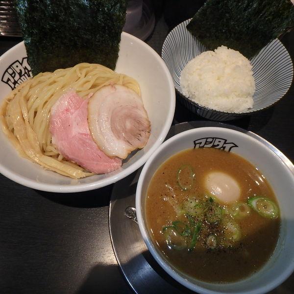 「特製つけ麺大950円、ごはん100円」@つけ麺 中華そば アンタイNOODLESの写真